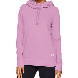 UA French Terry Open Back Hoodie Pink L , XL NWT